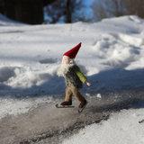 Kabouter Irven, op de schaats_