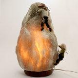 Zoutlamp & Viltsculptuur Bergbeklimmers_