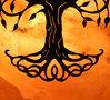 Zoutsteen lamp Keltische levensboom